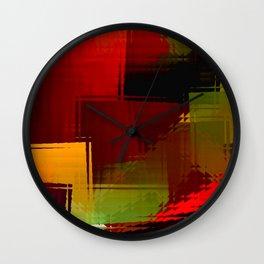 Square glass  1 Wall Clock