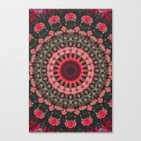 spiritual Canvas Prints featuring Spiritual Rhythm Mandala by Elias Zacarias