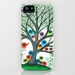Teton Owls in Tree iPhone Case