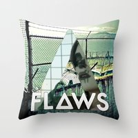 bastille Throw Pillows featuring Bastille - Flaws by Thafrayer