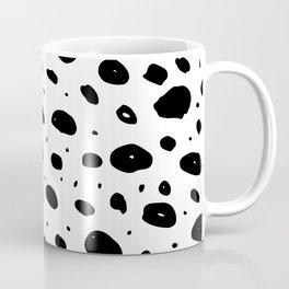 Black white hand painted watercolor polka dots  Coffee Mug