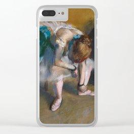 Edgar Degas - Waiting Clear iPhone Case