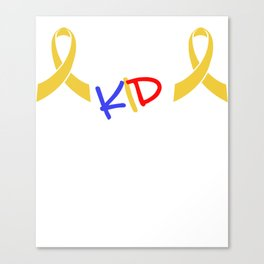 Fight Like A Kid Gold Ribbon Childhood Cancer Awareness Canvas Print