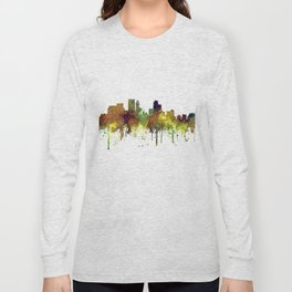 Minneapolis, Minnesota Skyline SG - Safari Buff Long Sleeve T-shirt