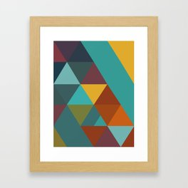 Triangles Colors City 4 Framed Art Print