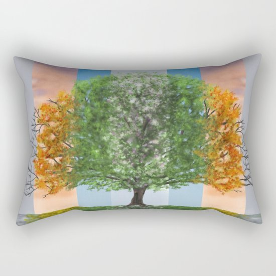 The seasons of the year in a tree Rectangular Pillow