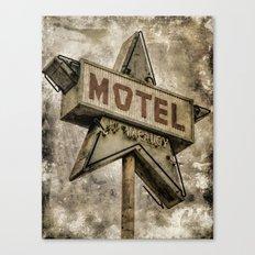 Vntage Grunge Star Motel Sign Canvas Print
