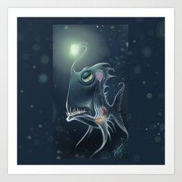 Self Hypnosis, Glass Fish Art Print