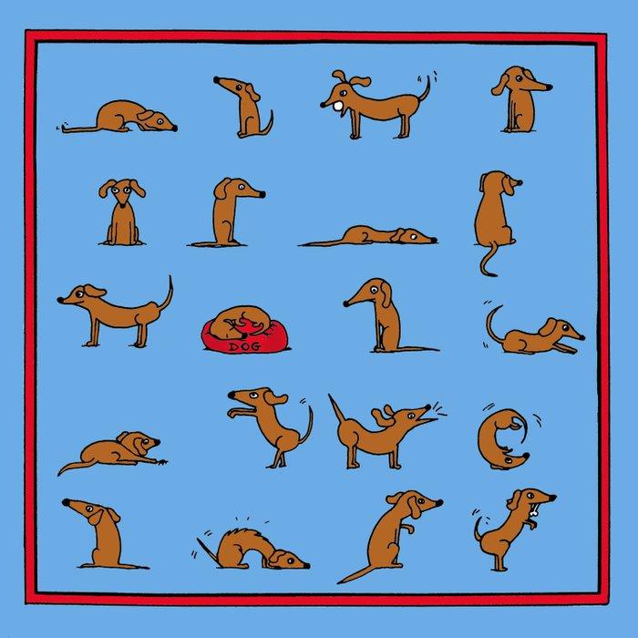 Sausage the Dog: Blue Print Duvet Cover