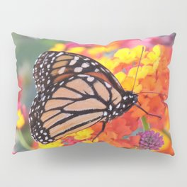 Monarch Feeding on Lantana Pillow Sham