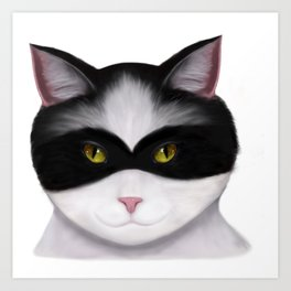 They call me the Masked Cat Art Print
