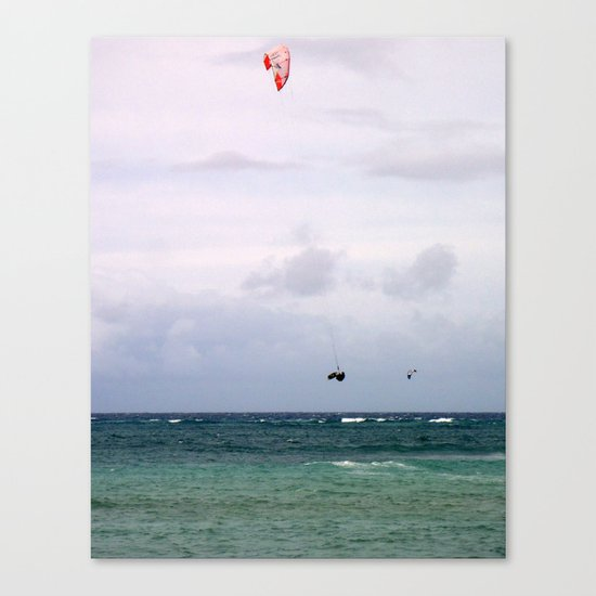 Let's Go Fly a Kite...In The Ocean Canvas Print