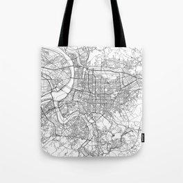 Taipei White Map Tote Bag