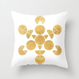ICOSAHEDRON FRUIT OF LIFE minimal sacred geometry Throw Pillow