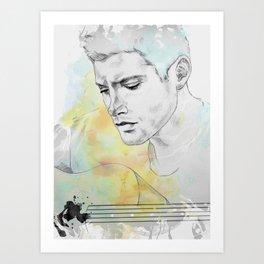 Jensen Ackles   Colour Art Print