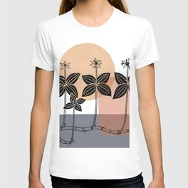 Modern Abstract Plant T-shirt