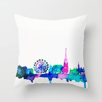 vienna Throw Pillows featuring Vienna by Talula Christian