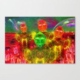 Martian Family Greeting Canvas Print