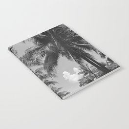 Palm Trees Black and White Photography Notebook