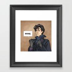 WRONG. Framed Art Print