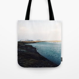 From the other side, Jökulsárlón, Iceland Art Print Tote Bag