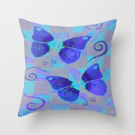 butterfly wind Throw Pillow