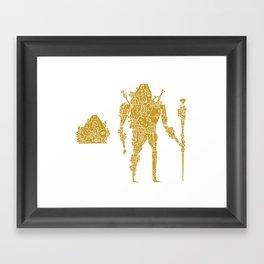 living robotic coral warrior  Framed Art Print