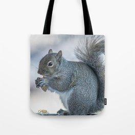 Winter squirrel Tote Bag