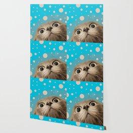 """""""Fun Kitty and Polka dots"""" Wallpaper"""