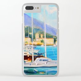 Boat dock Clear iPhone Case