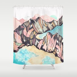 Solitary Beach Shower Curtain