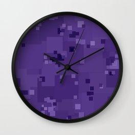 Gentian Violet Square Pixel Color Accent Wall Clock