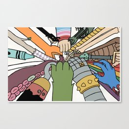 huddle Canvas Print