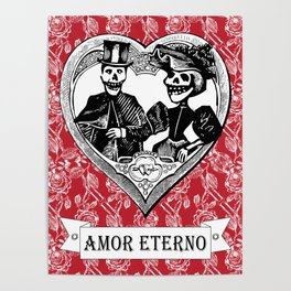 Amor Eterno | Eternal Love | Red and Black Poster