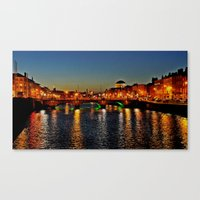 dublin Canvas Prints featuring Dublin by Michael Mentor