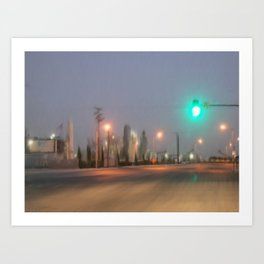 Green Light Art Print