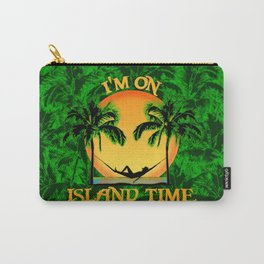 Palm Trees Tropical Island Time Carry-All Pouch