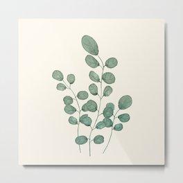 Watercolor Eucalyptus Metal Print