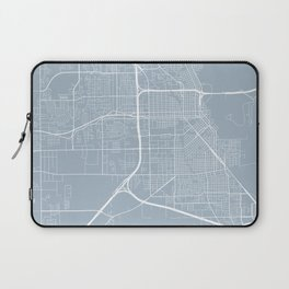 Beaumont Map, USA - Slate Laptop Sleeve