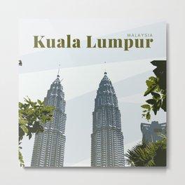 Patronas Towers Kuala Lumpur Metal Print