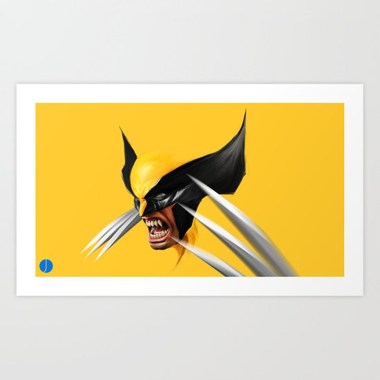 BLACK AND YELLOW Art Print