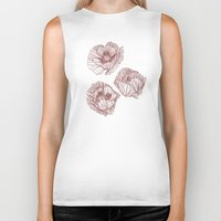 poppies Biker Tanks featuring Poppies by Annike