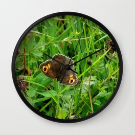 MEADOW BROWN BUTTERFLY Wall Clock