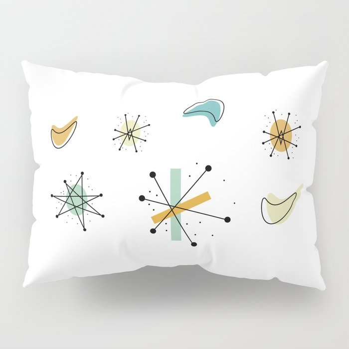 1950s Retro Atomic Pattern Pillow Sham
