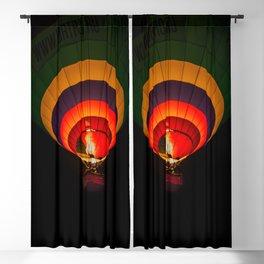 Night hot air balloon adventure Blackout Curtain
