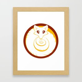Kuda circle Framed Art Print