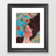 Queen in Gold and Teal Framed Art Print