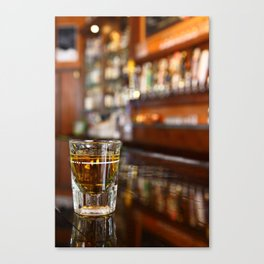 A Shot of Whisky Canvas Print