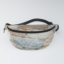 old wall from field stones Fanny Pack