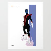 nightcrawler Art Prints featuring Nightcrawler by Andrew Formosa